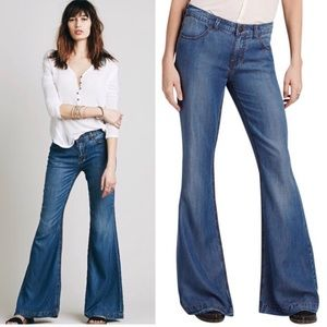 Free People Flare Leg Jeans Imperial Wash size 25